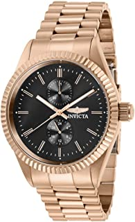 Men's Specialty Quartz Watch with Stainless Steel Strap, Rose Gold, 22 (Model: 29432)