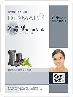 DERMAL Charcoal Collagen Essence Facial Mask Sheet 23g Pack of 10
