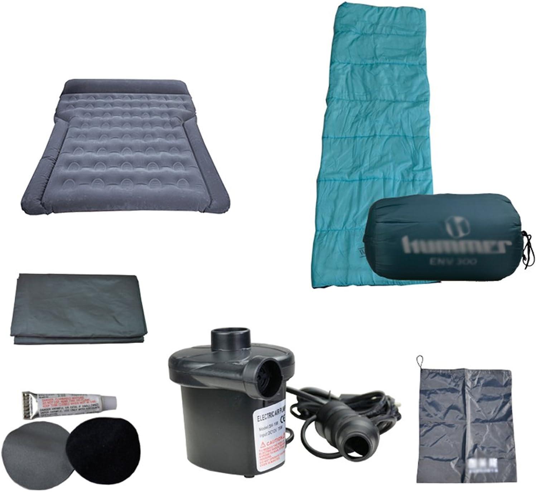 Car bed HUO Aufblasbares Bett-Reise-kampierendes Set, Universalauto-Luftmatratze Mit Schlafsack Picknick-Matte Luftpumpen-Reparatur-InsGrößetionssatz B07DPC5WK7  Mode