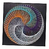 LoveinDIY DIY String Art Kit | Geometric String Art | DIY Kit W/All Supplies | Craft Kit for Adults | String Art Pattern | Geometric Decor | Hanging Wall Art