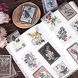 Vintage Aufkleber Stempel,180 Stück Scrapbooking Sticker Vintage, 30 Verschiedene Muster Vintage Papier Sticker für Scrapbook Kalender Notizbuch Tagebuch Fotoalbum DIY Dekoration