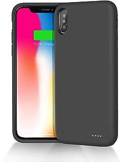 Dozzi iPhoneX/XS/10兼用 バッテリー内蔵ケース 3800mAh 充電ケース ケース型バッテリー 大容量 150%バッテリー容量追加- (黒)