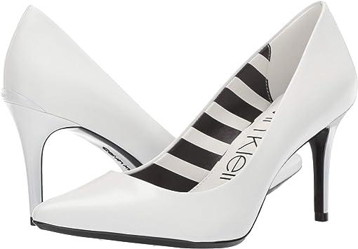 White Leather Stripes