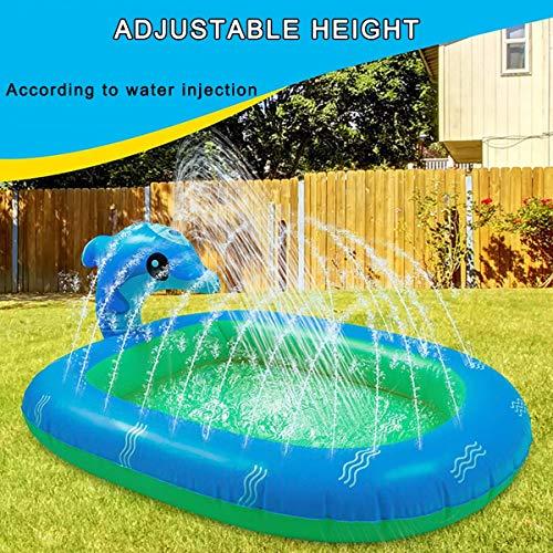 Piscina de aspersor inflable, juguetes de agua para niños, piscina de salpicaduras de vaina, piscina de verano para niños al aire libre patio trasero Natación para bebés niños niñas perros
