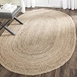 Safavieh Cape Cod Collection CAP252A Hand-woven Jute Area Rug, 3' x 5' Oval, tural
