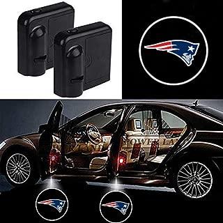2Pcs Universal Wireless Car Door Lights Logo for New England Patriots Car Door Led Projector Lights, Upgraded Car Door Welcome Logo Lights for All Car Models