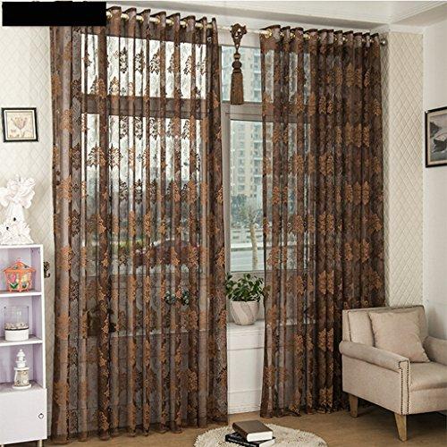Met Love Translucide Jacquard Fenêtre Screening Salon Chambre Étude Balcon Dedicated Bay Window 2 Panneaux (taille : L:2.0*H:2.7m)
