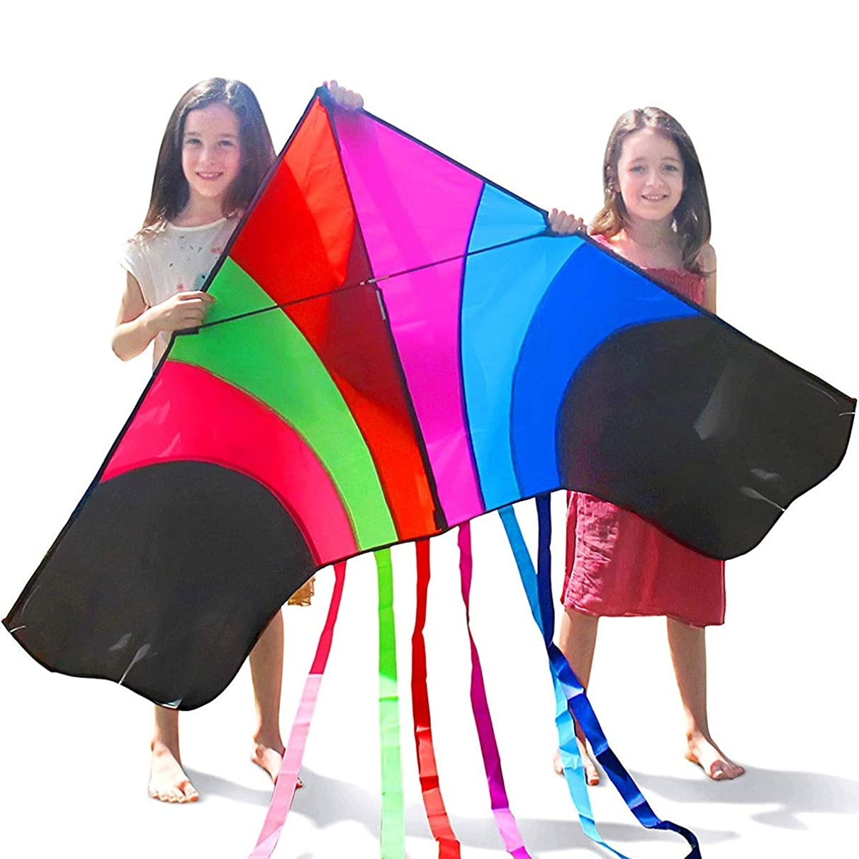 RMXMY Adult Large Cartoon Rainbow Kite Personality Fashion Creative Colorful Extra Large Anti-Wind Wind Easy to Fly Beginners Suitable for Adults and Children, Very Suitable for Family Entertainment,