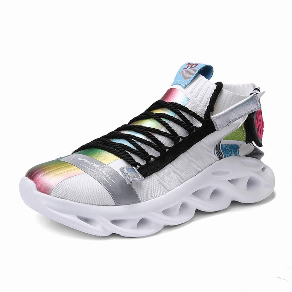 Zapatos para Hombre Running Shoes Adolescentes Hip Hop for Hombre Calzado Deportivo al Aire Libre calcetín Espesar Sole Zapatillas de Deporte de otoño del Resorte con Cordones Runni: Amazon.es: Hogar