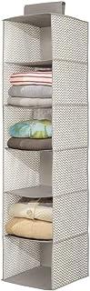 mDesign armoire à suspendre – armoire en tissu pratique pour la chambre, la cuisine ou la salle de bain – étagères suspend...
