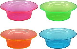 Party Essentials Salad/Snack Bowls, Hard Plastic, 10 oz, Assorted Neon