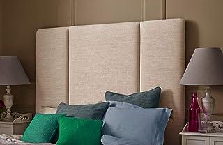 H-Cube meble norweski panel pionowy równoległy boczny tapicerowany wyściełany dwór łóżko zagłówek Turyn tkanina różne wyso...