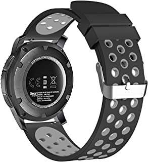 22mm Smart Watch Bands, FanTEK Silicone Sport Quick Release Watch Strap Wristband for Samsung Galaxy Watch 46mm / Gear S3 Frontier & Classic/Pebble Time Steel/Moto 360 for Men 2nd Gen 46mm