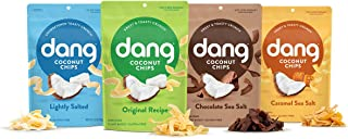 Dang Toasted Coconut Chips | Variety | 4 Pack | Vegan, Gluten Free, Non Gmo, Healthy Snacks Made with Whole Foods | 3.17 O...