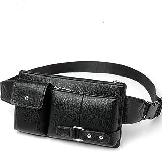 DFV mobile - Bag Fanny Pack Leather Waist Shoulder bag Ebook, Tablet and for HTC Desire 19s (2019) - Black