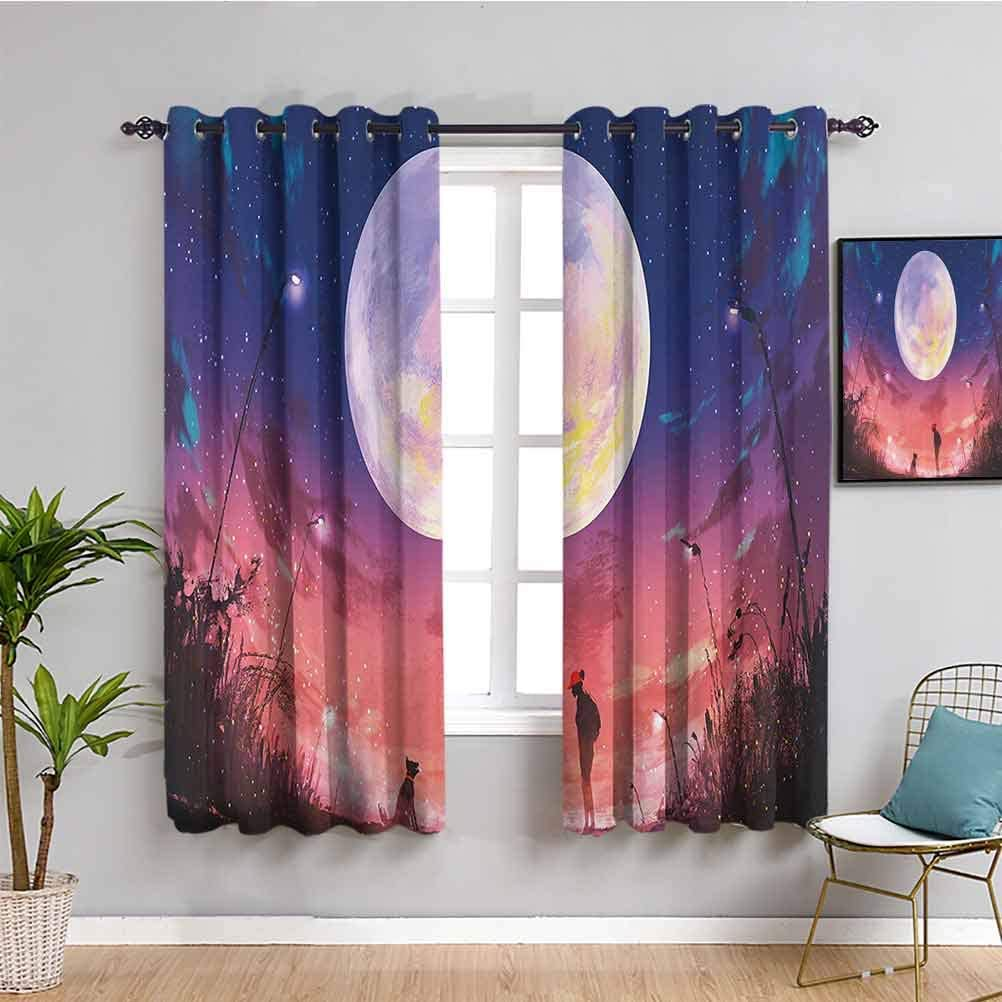 Fantasy House 70%OFFアウトレット 開店祝い Decor Blackout Window Curtains with A Woman Young