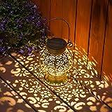 Farol Solar Exterior Jardin LED Lámpara Solar Jardín Luz Solar Exterio Luces de Linterna Solar Lámpara de Decoración para Jardin Terraza Patio Navidad [Clase de eficiencia energética A]