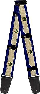 带扣式吉他背带 - 萨尔瓦多国旗做旧画 - 5.08 cm 宽 - 73.66 cm 长