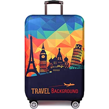 Baggage Covers Funny Words Blue Background Washable Protective Case