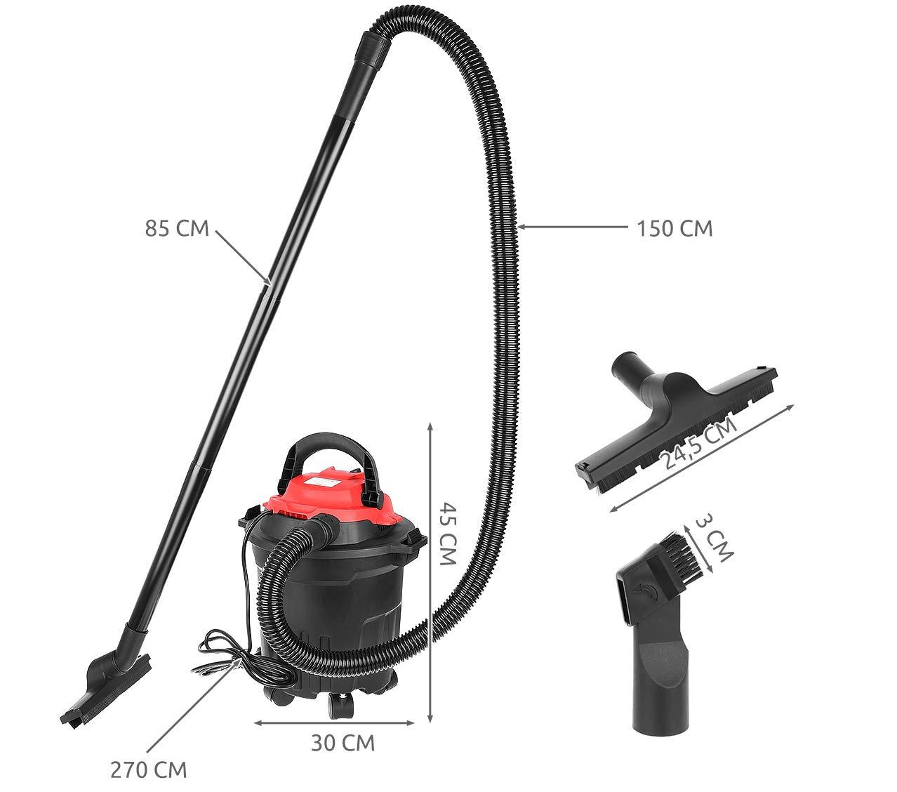 MT MALATEC 9070 - Aspirador Industrial (aspiradora en seco y húmedo, sin Bolsa, 15 l, 1600 W): Amazon.es: Hogar