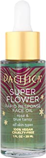 Pacifica Beauty Super Flower Rapid Response Face Oil, Soothes Irritated Skin, Rose, 1 Fl Oz