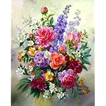 Christmas Decorations Home DIY Full Diamond Painting Flower Wall Clock Special