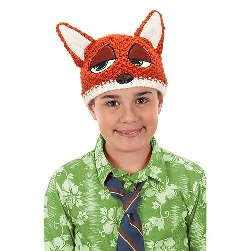elope Disney s Zootopia Nick Wilde Knit Beanie 9b19331285