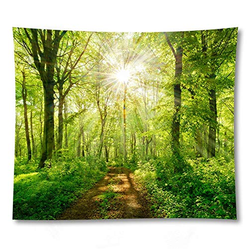 WERT Beautiful scenery curtain tablecloth scenery wall hanging tapestry yoga mat bohemian background cloth tapestry A10 150x200cm