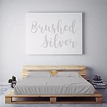 PeachSkinSheets Night Sweats: The Original Moisture Wicking, 1500tc Soft Regular King Sheet Set Brushed Silver