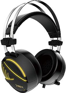 GAMDIAS HEBE M1 Gaming Headset with 7.1 Virtual Surround Sound, 50mm Gaming Drivers, USB Jack and RGB Streaming Lighting –...