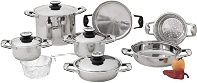 Chefs Secret Stainless Steel 13pc Cookware Set