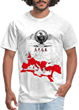SPQR Roman Empire Map Men's T-Shirt