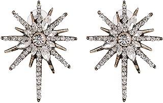Vintage metal star earrings,Rhinestone stud earrings,Simple Hollowed Women Earrings Jewelry Gifts,Gold