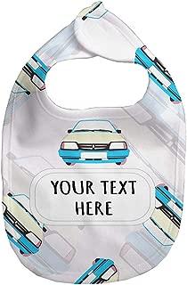 Baby Fleece Bib Custom Race Cars Seemless Pattern Unisex Children, One Size