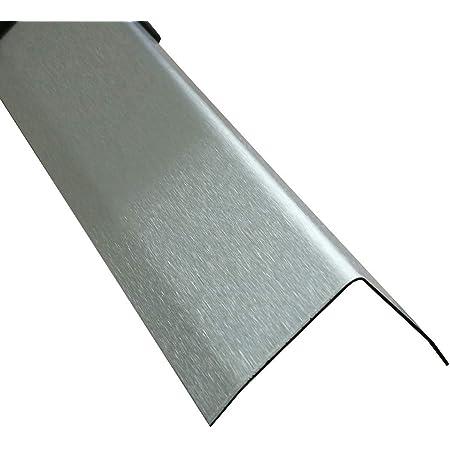 1 Meter Edelstahl Winkel 3fach Winkelblech Kantenschutz Wand Kantenschutzprofil K240,0,8mm stark Winkelprofil Edelstahl 3-fach gekantet