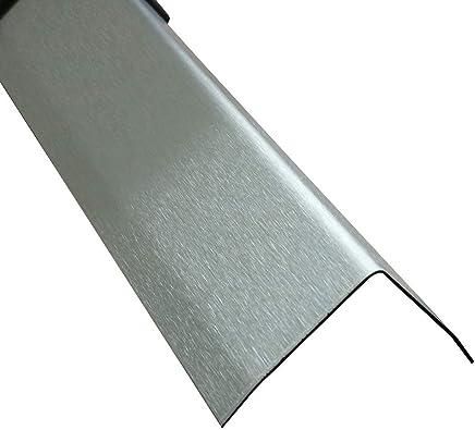 Edelstahl 3-fach Kantenschutz 1500mm 50x50 mm K240 grosse AUSWAHL V2A 0,8mm stark Blech 3fach Winkel Kantenschutz,1,5 Meter Kantenschoner aus Edelstahl 150cm Edelstahl 3-fach L-Blech Schenkel 5x5cm