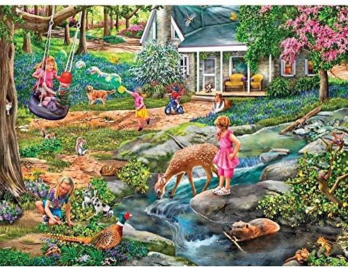 Murosn Puzzle 3D 1000 Piezas 8 Años Adultos Infantiles Educa Madera Arte Paisajes Placeres Decoracion Regalos Mujer Personalizado Columpio
