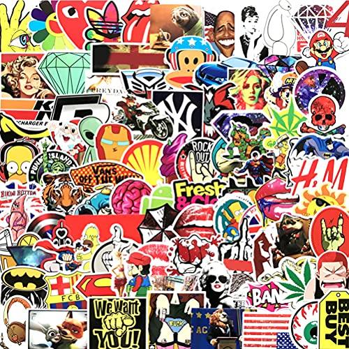 100Unids Paquete de Moda Pegatinas Frescas Portátiles Stickers Aesthetic Impermeable Pegatina Vinilo Anime Calcomanía Graffiti Parches Stickers para Niño Muchacha Ordenador Patineta Equipaje