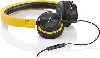 AKG Y40 头戴式耳机 折叠便携式耳机 立体声手机通话耳机 黄色