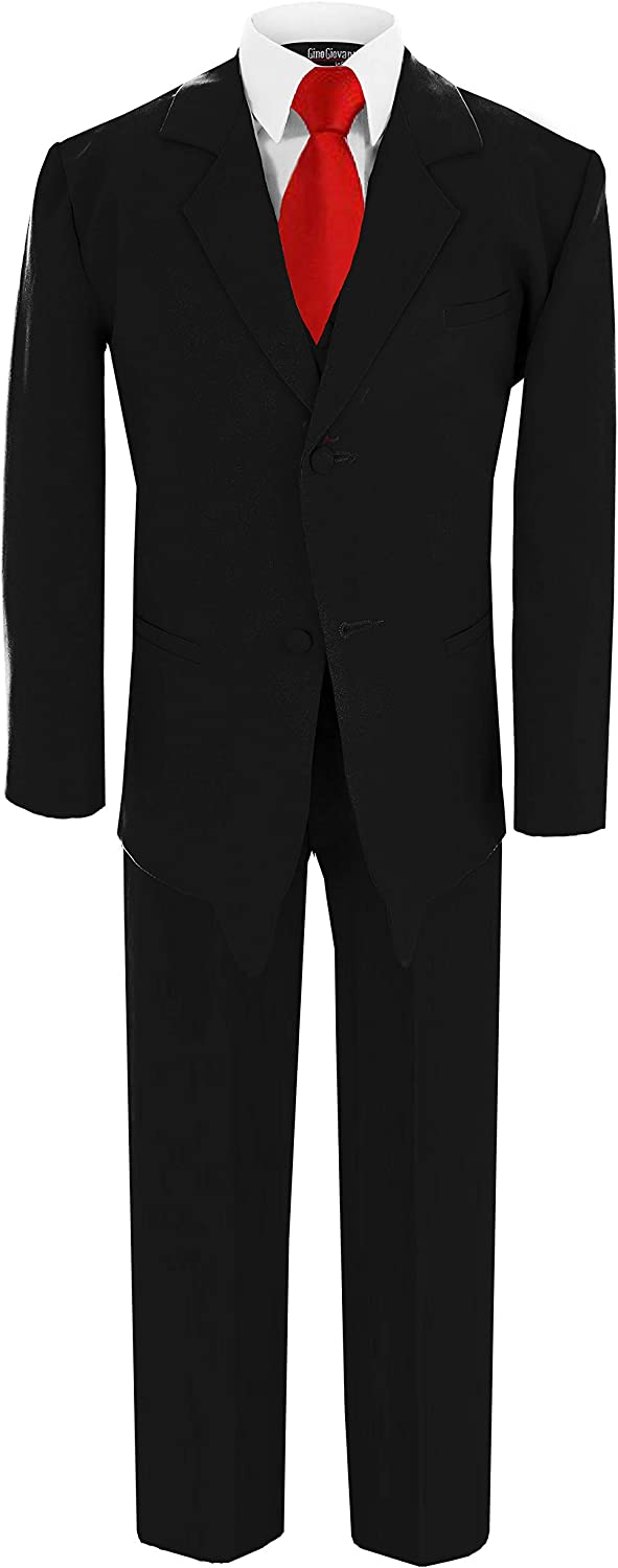 Gino Giovanni Boy Black Suit with Solid Tee to Super Special SALE held Baby from Tie Red Washington Mall