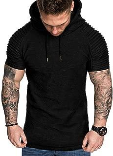 Men's Hoodies, FORUU Autumn Winter Casual Tops Long-Sleeved Zipper T-Shirt Solid Hooded Blouse