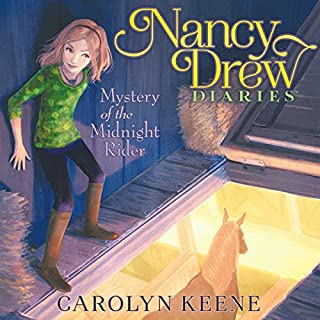 Mystery of the Midnight Rider     Nancy Drew Diaries, Book 3              Written by:                                                                                                                                 Carolyn Keene                               Narrated by:                                                                                                                                 Jorjeana Marie                      Length: 3 hrs and 13 mins     Not rated yet     Overall 0.0