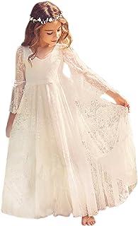 daa16d0949f11 Babyonlinedress Elégant Robe de Fille Enfant de Mariage d Honneur Soirée  Princesse Noble