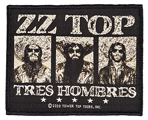 Halle 15 Clothes ZZ TOP Tres HOMBRES Aufnäher ZZ TOP Patch Gewebt & Lizenziert !!