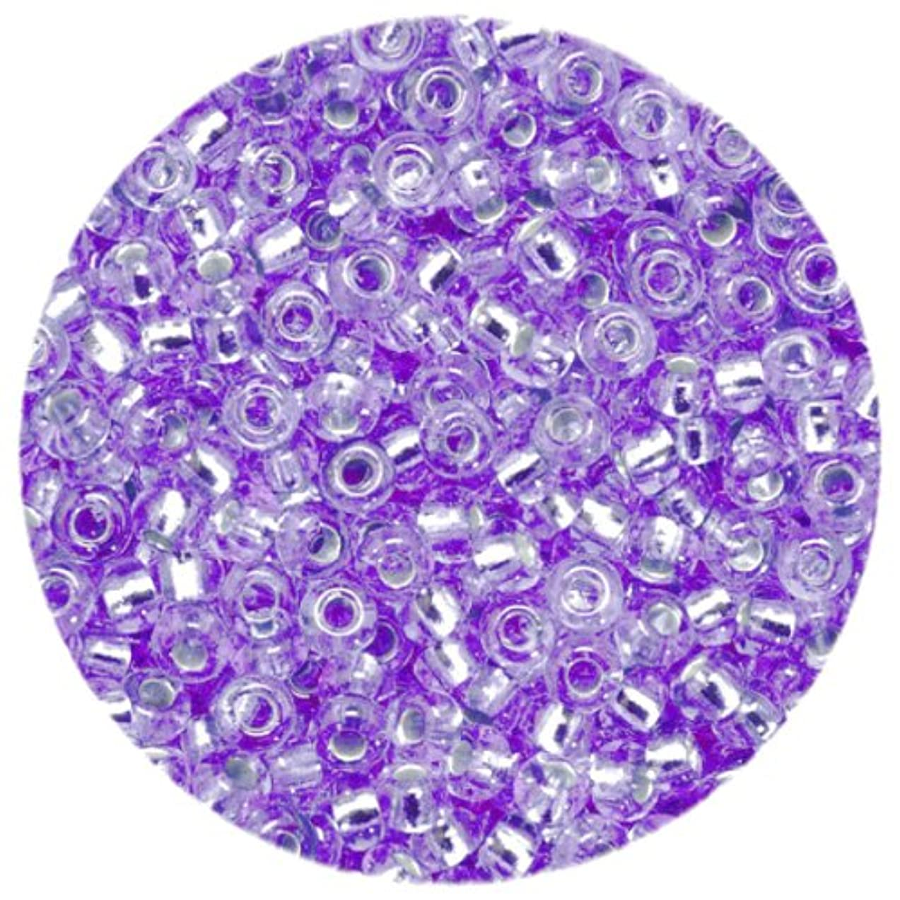 Efco 1022242 3.5 mm 17 g Indian Beads Silver-Lined, Lavender