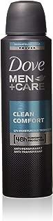 New Dove Men+Care Clean Comfort Anti-Perspirant Deodorant Spray 150 Ml/5.0oz (4 Can)