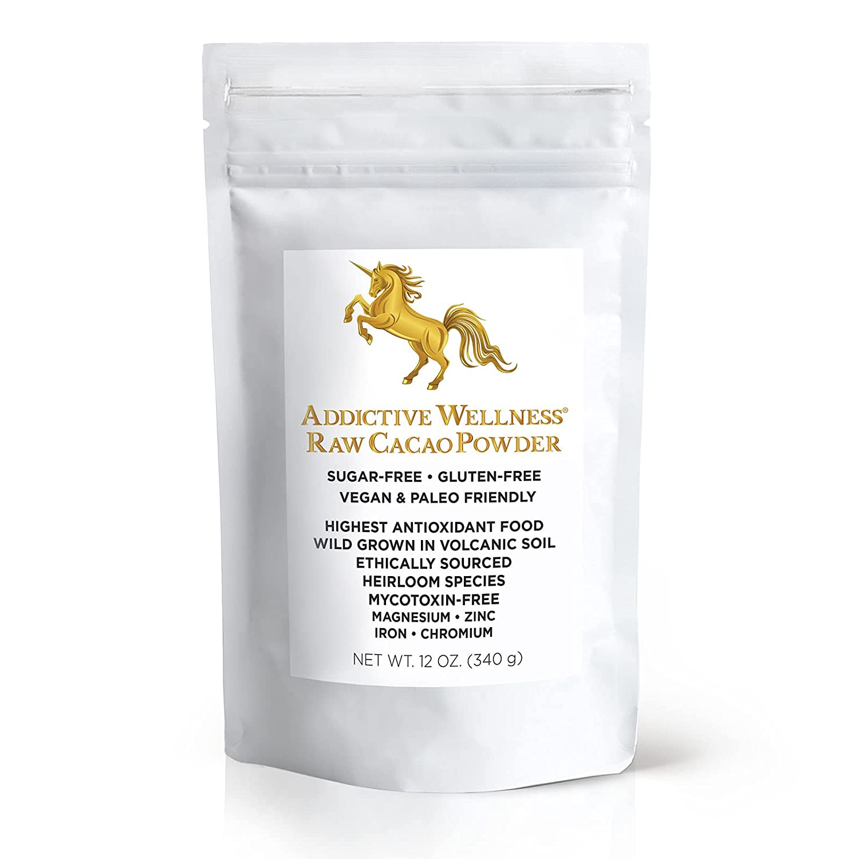 Addictive Wellness Raw Max 85% OFF Cacao Powder Wild-Grown Mycoto Heirloom - Cheap SALE Start