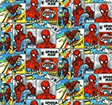 DC Comics - Spiderman Comic - Baumwolle - ab 0,5 Meter
