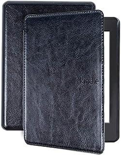 Capa para Kindle 10a geração - Couro PU - Rígida com Fecho magnético e acionamento da hibernação - Preta