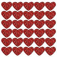 POPETPOP 手芸材料セット ワッペン アップリケ デコパーツ DIY ハート型 diy 服 キラキラ 手芸 工芸品の装飾 手作り材料 手芸用 携帯カバー飾り 赤